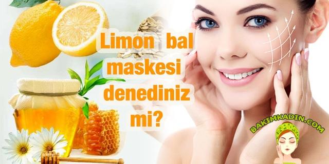 bal ve limon maskesi