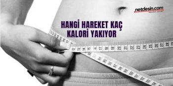 Hangi hareket kaç kalori yakıyor