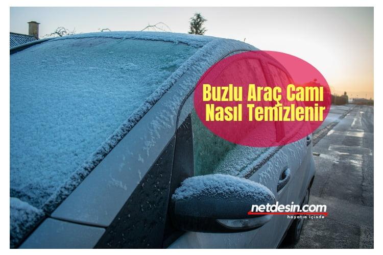 Araba camı buz temizleme